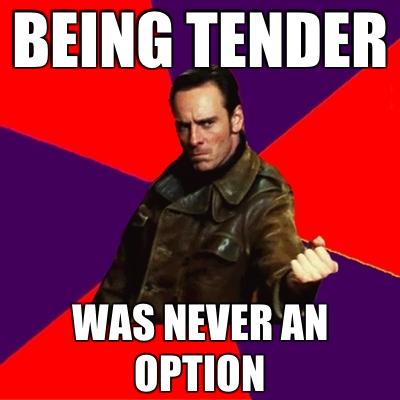 tender never michael fassbender crush and i love you fandom! day 17,Tender Meme